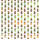 Nahtloser Ananasmustersatz Gedämpfte Palette Vektorillustration Lizenzfreie Stockbilder