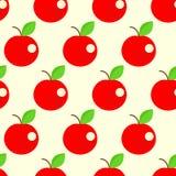 Nahtloser Apfelhintergrund Lizenzfreie Stockbilder
