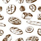 Nahtloser Bäckereihintergrund Stockfotos