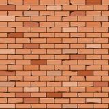Nahtloser Backsteinmauerhintergrund Stockbild