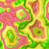 Nahtloser Beschaffenheitshintergrund des grünen, rosa und gelben Marmorachatsteins Stockfotografie