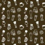 Nahtloser Bierhintergrund. Lizenzfreies Stockbild