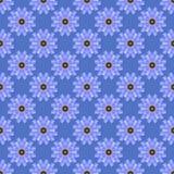 Nahtloser blauer Blumenhintergrund Stockbilder