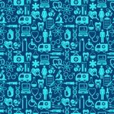 Nahtloser blauer medizinischer Hintergrund Stockfoto