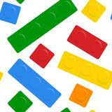 Nahtloser Block auf weißem Hintergrund Lizenzfreies Stockfoto