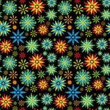 Nahtloser Blumen-Muster-Hintergrund Stockfoto
