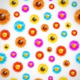 Nahtloser Blumenaufkleberhintergrund Stockfoto