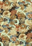 Nahtloser Blumenblumenentwurfshintergrund lizenzfreie abbildung