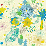 Nahtloser Blumenfrühling reizendes pattern1 lizenzfreie abbildung