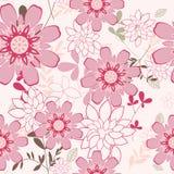 Nahtloser Blumenhintergrund Lizenzfreie Stockbilder