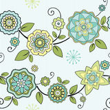 Nahtloser Blumenhintergrund Lizenzfreies Stockbild
