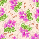 Nahtloser Blumenhintergrund Stockfotografie