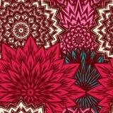 Nahtloser Blumenhintergrund Gewebe-Hintergrundmuster der handgemachten Natur des Tracery ethnisches mit Blumen Vektor Stockfoto
