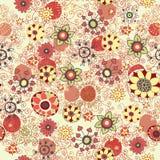 Nahtloser Blumenhintergrund mit Blumen, Stockfotografie