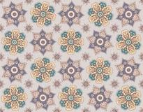 Nahtloser Blumenhintergrund, Schritte wiederholend Lizenzfreies Stockbild