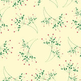 Nahtloser Blumenmuster-Gelbhintergrund Stockfotos
