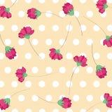 Nahtloser Blumenmusterhintergrund Stockfotografie