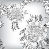 Nahtloser Blumenmusterhintergrund Lizenzfreies Stockfoto
