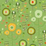 Nahtloser Blumenmusterhintergrund im Vektor Stockbild