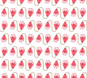 Nahtloser Blumenmusterhintergrund mit rosa nettem Blumen- und m Stockfotografie