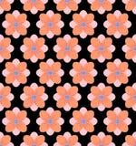 Nahtloser Blumenmusterhintergrund, schwarzer Hintergrund Stockbild