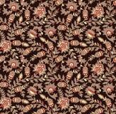 Nahtloser Blumenweinleseentwurf lizenzfreie abbildung