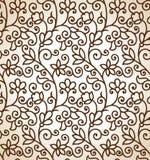 Nahtloser brauner Blumenhintergrund Stockfoto