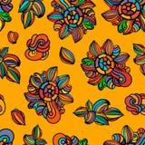 Nahtloser bunter Blumenhintergrund lizenzfreie abbildung