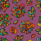 Nahtloser bunter Blumenhintergrund stock abbildung
