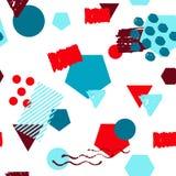 Nahtloser bunter geometrischer Musterhintergrund spornte durch Memphis-Art an lizenzfreie abbildung