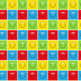 Nahtloser bunter Knopf-Muster-Hintergrund Stockbilder