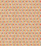 Nahtloser bunter Streifen mit Hintergrundbeschaffenheit vektor abbildung