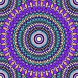 nahtloser dekorativer abstrakter heller mit Blumenhintergrund der Hand-Zeichnung stock abbildung