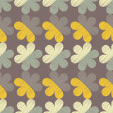 Nahtloser dekorativer Blumenhintergrund Gekritzelbeschaffenheit Retro- Motiv Lizenzfreies Stockbild