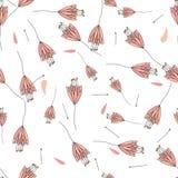 Nahtloser dekorativer Blumenmusterhintergrund Lizenzfreies Stockfoto