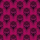 Nahtloser dekorativer Hintergrund des Blumendamastes Lizenzfreies Stockfoto