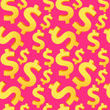 Nahtloser Dollarhintergrund Lizenzfreie Stockfotos