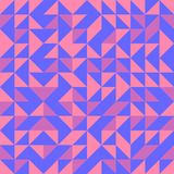 Nahtloser Dreieckmuster-Zusammenfassungshintergrund mit geometrischer Beschaffenheit für den Schal modisch Lizenzfreie Stockfotos