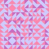 Nahtloser Dreieckmuster-Zusammenfassungshintergrund mit Memphis-Pastellmodischem der geometrischen Beschaffenheit Lizenzfreies Stockbild