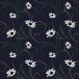 Nahtloser dunkelblauer Hintergrund der Blume vektor abbildung