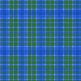 Nahtloser einfacher Schottenstoff-blaues Grün Stockbilder