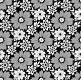 Nahtloser einfarbiger Blumenhintergrund Stockbild