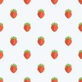 Nahtloser Erdbeermuster-Hintergrund Lizenzfreie Stockfotos