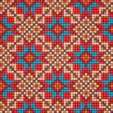 Nahtloser ethnischer Musterhintergrund des Mosaiks Stockbild