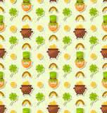 Nahtloser Feiertags-Hintergrund für St Patrick Tag Lizenzfreie Stockfotos