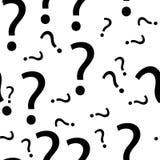 Nahtloser Fragezeichen-Mustervektor Lizenzfreies Stockbild