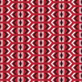 Nahtloser gebürtiger Vektormusterpfeil auf rotem Hintergrund Lizenzfreie Stockfotografie