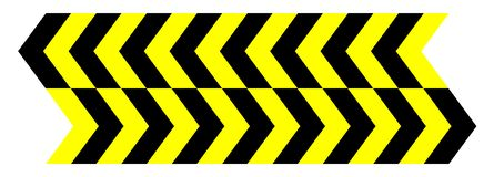 Nahtloser gelber schwarzer Pfeil des Vektors stock abbildung