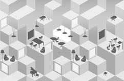 Nahtloser geometrischer abstrakter einfarbiger Hintergrund Lizenzfreie Stockbilder