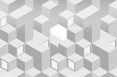 Nahtloser geometrischer abstrakter einfarbiger Hintergrund Stockbild